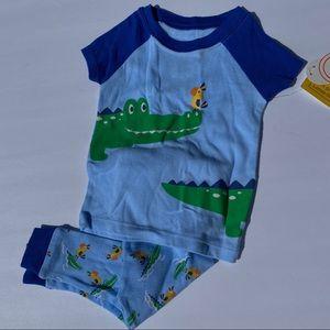 Baby Boys 9mo Alligator Pajamas 2 piece
